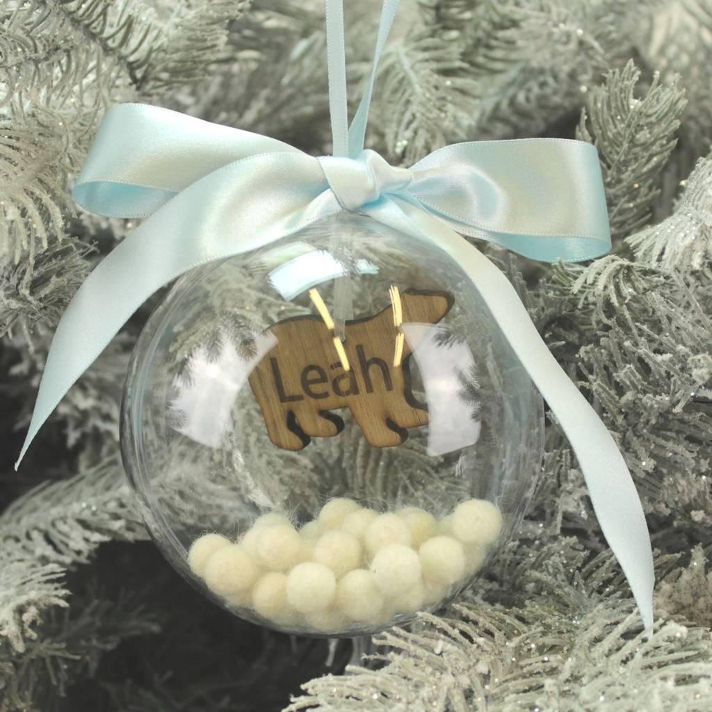 Personalised Polar Bear Christmas Bauble