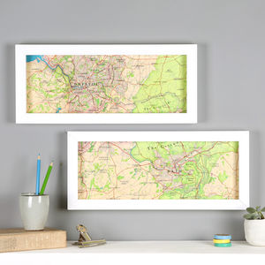 Personalised Bath And Bristol Hand Drawn Map Print - posters & prints