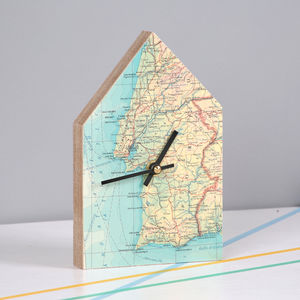 Personalised Map Location House Wall Clock - bedroom