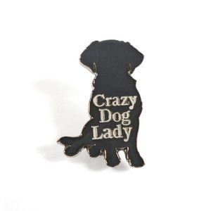 Crazy Dog Lady Brooch