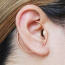 Round Rose Gold Ear Climbers
