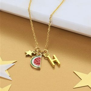 Personalised Watermelon Charm Necklace - necklaces & pendants