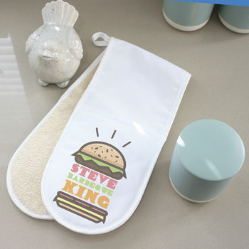 Personalised Burger Oven Gloves
