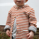 Knitted Stripe Unisex Children's Cardigan