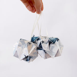 Patterned Origami Ball Decoration - dining room