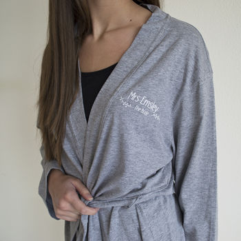 Personalised Wedding Robe