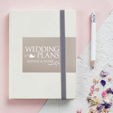 Personalised Engagement Wedding Notebook - weddings