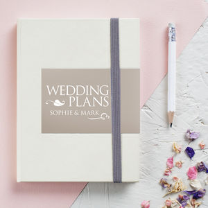 Personalised Engagement Wedding Notebook - winter sale