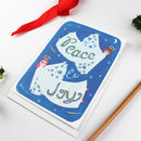 Peace And Joy Angels Christmas Card