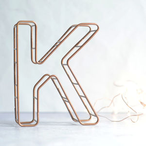 Copper Alphabet Letter