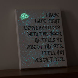 'Conversations With The Moon' Glow In The Dark Canvas - canvas prints & art
