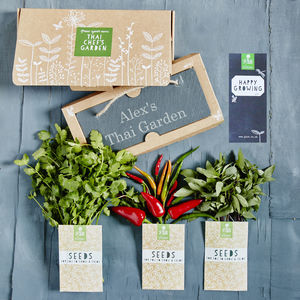 Personalised Thai Chef's Garden Gift - foodies