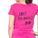 Lost In Music, Women's Running Tshirt