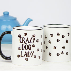Crazy Dog Lady Gift Mug - dining room
