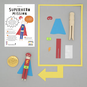 Make Your Own Superhero Peg Doll Kit - for children