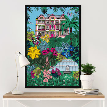 Kew Gardens Illustrated Art Print