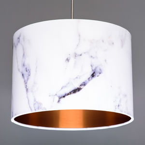Marble Effect Lampshade Choice Of Linings - lampshades