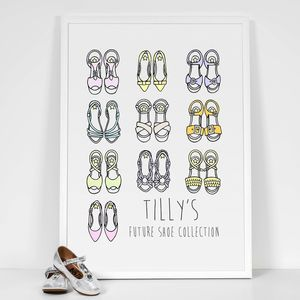 Personalised 'Future Shoe Collection' Girls' Prints