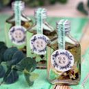 Personalised Botanical Bath Oil Wedding Favours