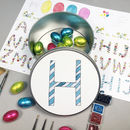 Round Personalised Easter Treat Tin