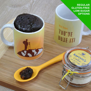 'Well Done!' Congratulations Chocolate Mug Cake Kit