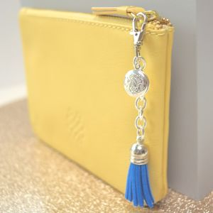 Mini Tassel And Locket Keyring Or Bag Charm - keyrings