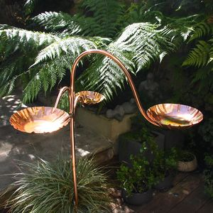 Copper Chalice Birdbath Tree - art & decorations