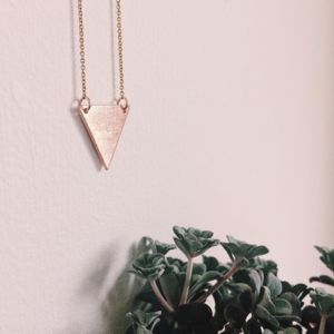 Copper Hammered Triangle Necklace