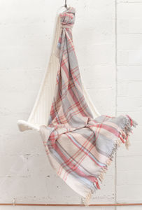 Celine Tartan Handwoven Blanket - throws, blankets & fabric