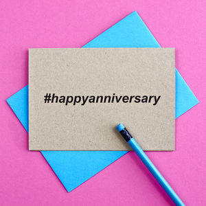 Hashtag Anniversary Card - summer sale