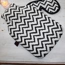 Hot Water Bottle Zig Zag Print