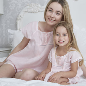 Girl's Pink Cotton Pj Set