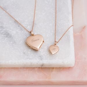 Personalised Sterling Mummy And Me Heart Locket Set - gifts for mothers
