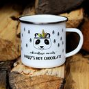 Enamel Mug with Panda Image