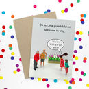 Grandkids Rude Greeting Card