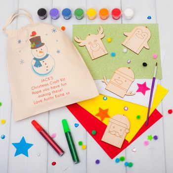 Personalised Snowman Christmas Decorations Craft Kit