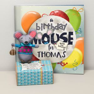 Personalised Child's Birthday Mouse And Optional Book - 1st birthday gifts