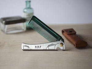Personalised Special Edition Man Comb With Leather Case