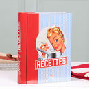 Retro French Novelty Recipe Storage Tin