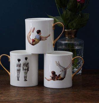 Trapeze Boy Bone China Mug