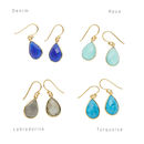 Ashiana Gold And Navy Jade Earrings