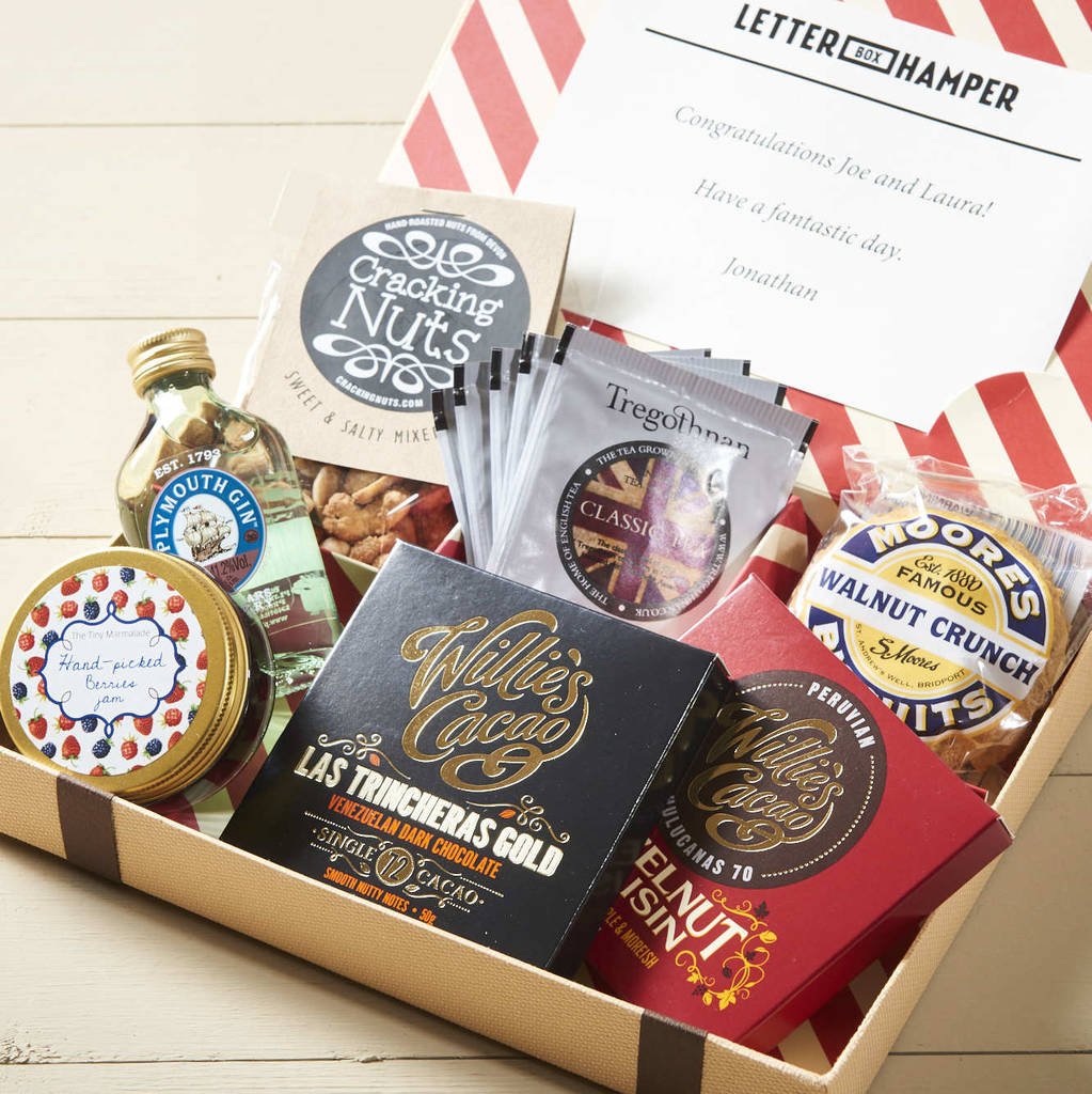 Best Of British Letter Box Hamper With Gin