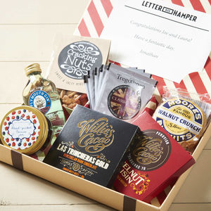 Best Of British Letter Box Hamper With Gin - 70th birthday gifts