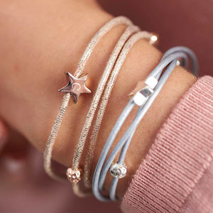 Arlena Multi Wrap Leather Star Bracelet - gifts for her