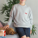 Children's Embroidered Year Sweatshirt