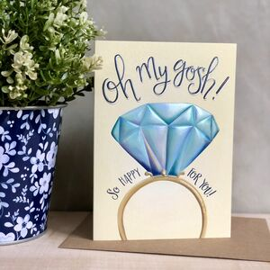 Omg You're Engaged Card
