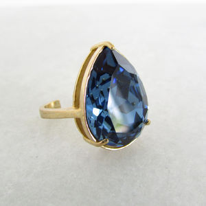 Teardrop Statement Ring