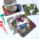 Jungle Flora And Fauna Coasters