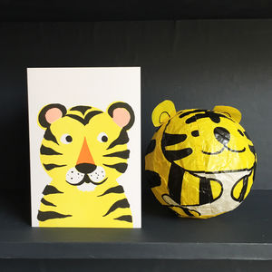 Tiger Paper Balloon Greeting Card