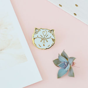 Blah! Cat Enamel Pin